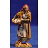 Pastora con cesto 6,5 cm plástico Moranduzzo - Landi estilo ebraico