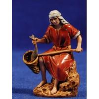Pescador sentado 6,5 cm plástico Moranduzzo - Landi estilo ebraico