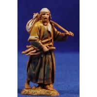 Pastor con fardel y leña 6,5 cm plástico Moranduzzo - Landi estilo ebraico