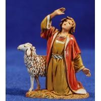 Pastor maravillado con cordero 6,5 cm plástico Moranduzzo - Landi estilo ebraico