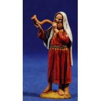 Pastor con corno 6,5 cm plástico Moranduzzo - Landi estilo ebraico
