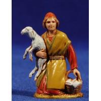 Pastor adorando con cordero 6,5 cm plástico Moranduzzo - Landi estilo ebraico