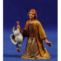 Pastor adorando con pollo 6,5 cm plástico Moranduzzo - Landi estilo ebraico