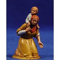 Pastora adorando con niño 6,5 cm plástico Moranduzzo - Landi estilo ebraico