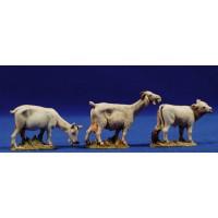 Conjunto tres cabras comiendo 10 cm plástico Moranduzzo - Landi