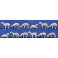 Grupo 12 corderos 6'5 cm plástico Moranduzzo - Landi
