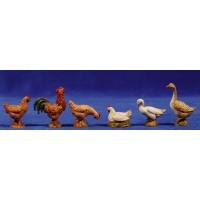 Grupo gallinas  oca y pato 10 cm plástico Moranduzzo - Landi