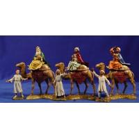 Reyes a camello con pajes 10 cm plástico Moranduzzo - Landi