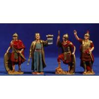 Soldados romanos y herodes 8 cm plástico Moranduzzo - Landi - Landi