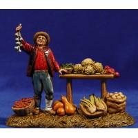Vendedor de verduras 10 cm plástico Moranduzzo estilo 700