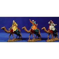 Reyes a camello 12-13  cm plástico Moranduzzo - Landi