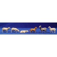 Grupo corderos y perro 13 cm plástico Moranduzzo - Landi