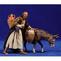 Pastor con asno 12-13  cm plástico Moranduzzo - Landi estilo 700
