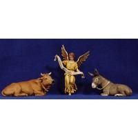 Buey, la mula y ángel 12-13  cm plástico Moranduzzo - Landi