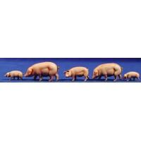 Grupo cerdos 10 cm plástico Moranduzzo - Landi
