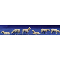 Grupo corderos 8 cm plástico Moranduzzo - Landi