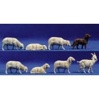 Grupo corderos 10 cm plástico Moranduzzo - Landi