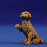 Perro dando la pata 10-15 cm resina Montserrat Ribes