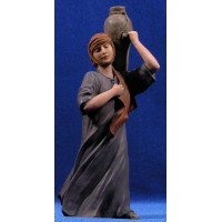 Pastora con jarron 20 cm resina Montserrat Ribes