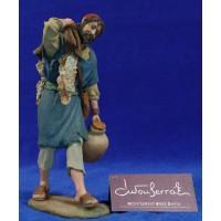 Pastor con manta y jarra 17 cm resina Montserrat Ribes
