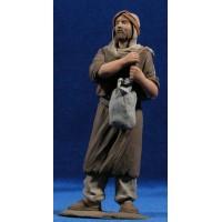 Pastor con sacos 17 cm resina Montserrat Ribes