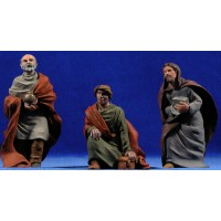 Reyes adorando 12 cm resina Montserrat Ribes