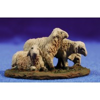 Cordero grupo de cuatro 9 cm resina Montserrat Ribes