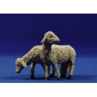 Cordero grupo de dos 16-18 cm resina Montserrat Ribes