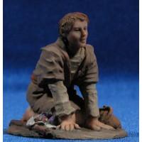 Pastor adorando 9 cm resina Montserrat Ribes