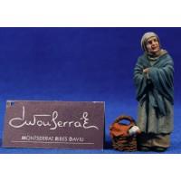 Pastora con oca  9 cm resina Montserrat Ribes