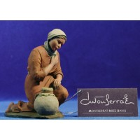 Pastora adorando 17 cm resina Montserrat Ribes