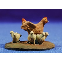 Gallinas del corral 12 cm resina Montserrat Ribes