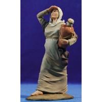 Pastora samaritana embarazada 17 cm resina Montserrat Ribes