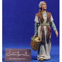 Pastora con cesto 17 cm resina Montserrat Ribes