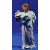 Ángel con el Niño Jesús  17 cm resina Montserrat Ribes