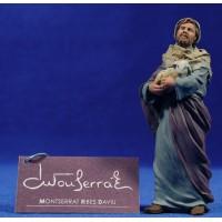 Pastor con cordero en brazos 12 cm resina Montserrat Ribes