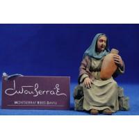 Pastora sentada con jarra 12 cm resina Montserrat Ribes