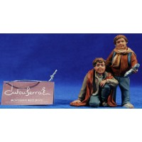 Niños adorando bocadillo 16 cm resina Montserrat Ribes