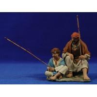Pescadores17 cm resina Montserrat Ribes