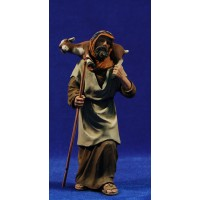 Pastor con cabra 17 cm resina Montserrat Ribes