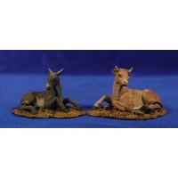Buey y mula 12 cm resina Montserrat Ribes