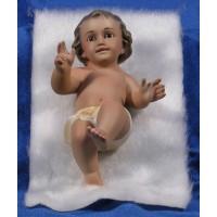Niño Jesús con piel 15 cm yeso