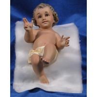 Niño Jesús con piel 20 cm yeso