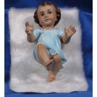 Niño Jesús (azul) con piel 15 cm yeso