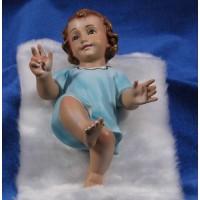 Niño Jesús (azul) con piel 20 cm yeso