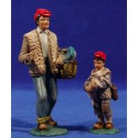 Pastor con niño catalan 11 cm resina