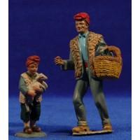 Pastor con niño catalan 11 cm barro-resina Castells