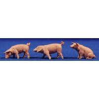 Grupo tres cerdos 6-8 cm Elastolin 47048 plástico