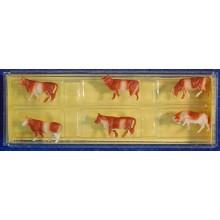 Grupo seis vacas Z Preiser 8575 plastico
