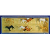 Grupo ocho caballos Z Preiser 8578 plastico
